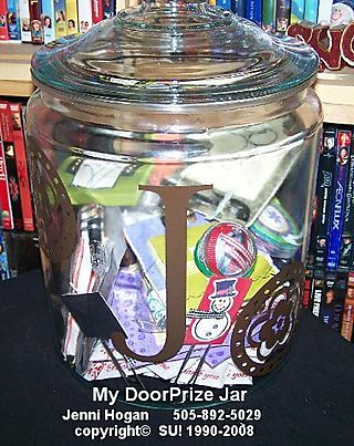 My doorprize jar